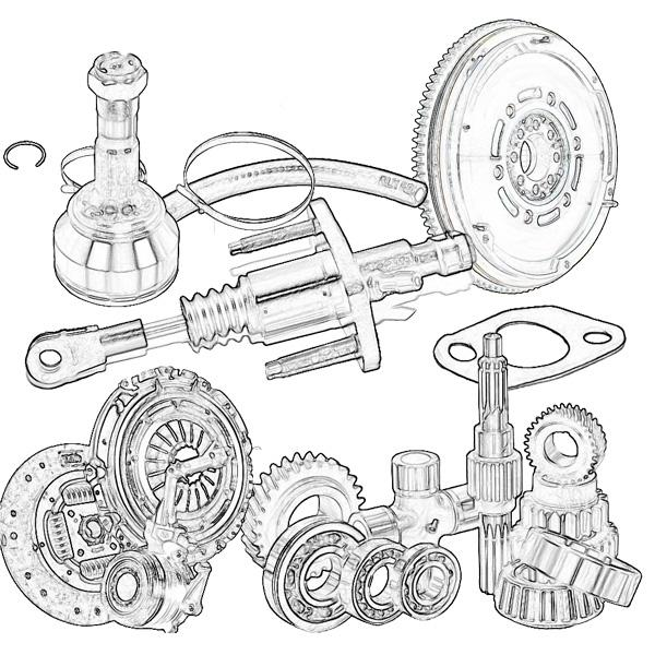 Clutch and transmission parts